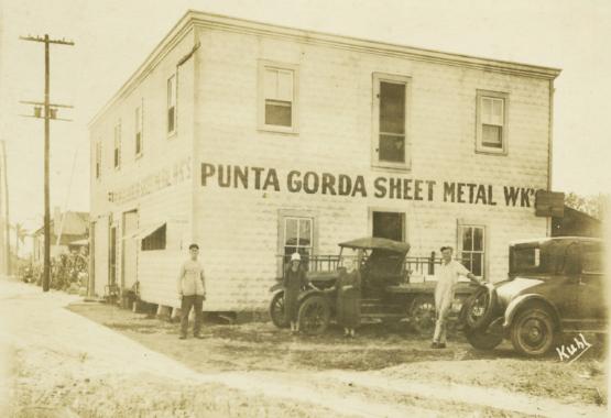 Vintage-Punta-Gorda-Sheet-Metal-Works-Building