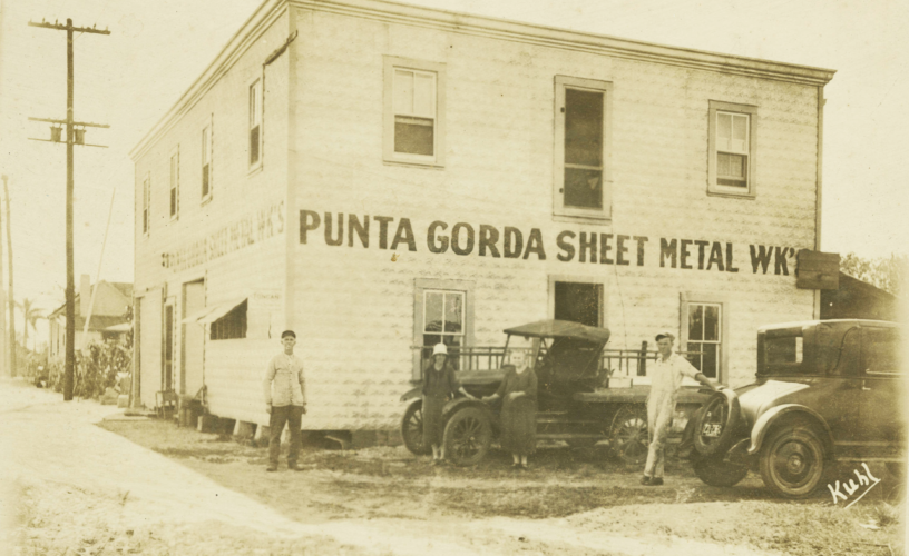 Vintage-Punta-Gorda-Sheet-Metal-Works-Building